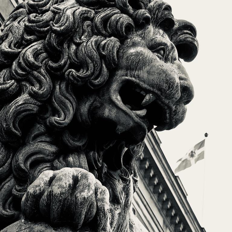 Foto ID: 1043, Kungligt slottslejon 14 x 14 cm 1800 kr